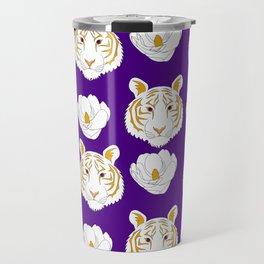 LSU purple Travel Mug