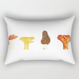 Pacific Northwest Edible Mushroom Chart - Fungi Oil Painting Rectangular Pillow
