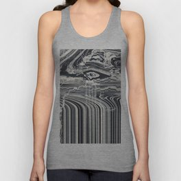 Eye Glitch Art Unisex Tank Top