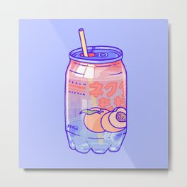 Peach Bubbles Metal Print