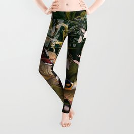 Floral and Birds XXV Leggings