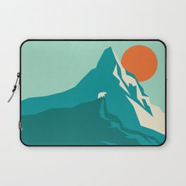As the sun rises over the peak Laptop Sleeve