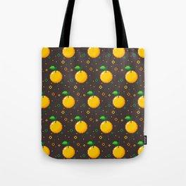 Pixel Oranges - Dark Tote Bag