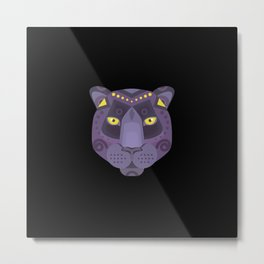 Royal Black Panther Metal Print