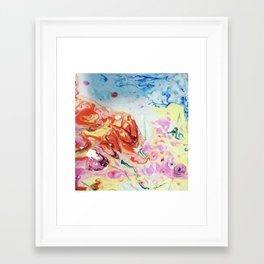 Abstract Flowers blasted with water Framed Art Print