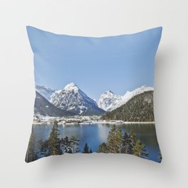 First glimpse of Switzerland Throw Pillow