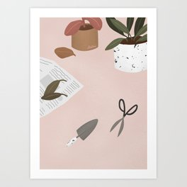 Take care of what you have planted Art Print