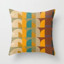 Mid-Century Geometric Pattern  Throw Pillow
