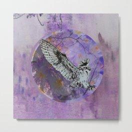 Barn Owl Abstract Metal Print
