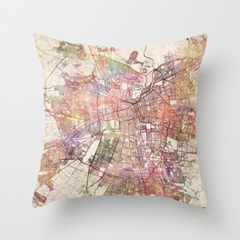 Santiago map Throw Pillow