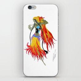 "1920's Art Deco Illustration ""Gypsy Dancer"" iPhone Skin"