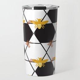 Bees Pattern Travel Mug