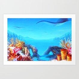 Manta Bay Art Print