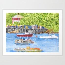 Corea Maine Harbor Art Print