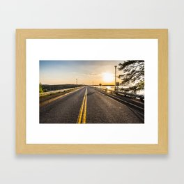 Sunset Road 2 Framed Art Print