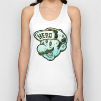 hero Tank Tops featuring Hero by Beery Method