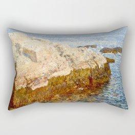Cliff Rock, Appledore, 1903 - by Childe Hassam Rectangular Pillow