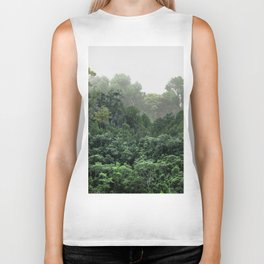 Tropical Foggy Forest Biker Tank