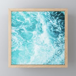 Perfect Sea Waves Framed Mini Art Print