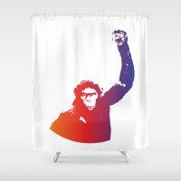 rebel Shower Curtains featuring Rebel by Kailash Gyawali