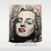 monroe Shower Curtains featuring Monroe by Matt Hortop