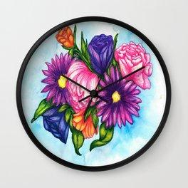 Summer Bouquet Wall Clock