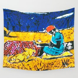 Emily paints her Story, AUSTRALIA                   by Kay Lipton Wall Tapestry