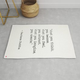 Buddha quote 5 Rug
