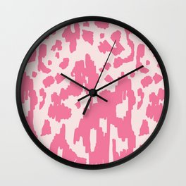 Modern Abstract Ikat pink #homedecor Wall Clock