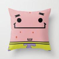 patrick Throw Pillows featuring Patrick by nu boniglio