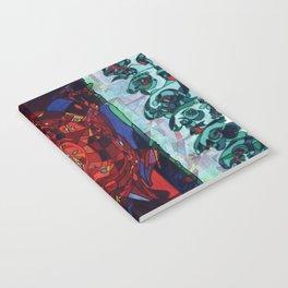 A Committee Looks Upon The Vortex (Maelga Turquoise Turbulante) Notebook
