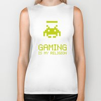 religion Biker Tanks featuring Gaming is my religion by Lily's Factory