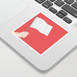 White Flag Sticker