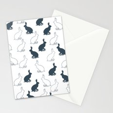 Hares in spring Stationery Cards