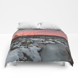 Great Falls Winter Twilight Comforters