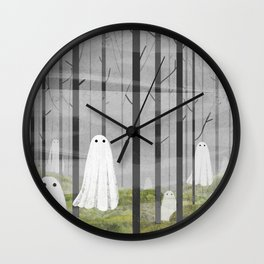 The Woods are full of Ghosts Wall Clock