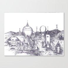 Lowry Aliens Canvas Print