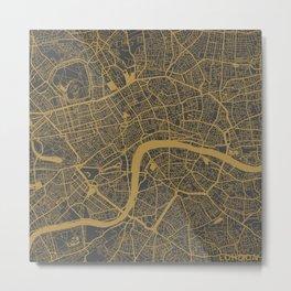 London - Ocher Metal Print
