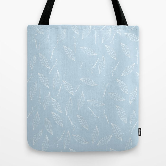 Leaves Of Rosemary Baby Light Blue Tote Bag By Mab