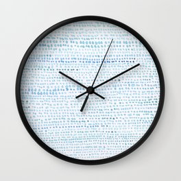 BLUE/GREEN DOTTED PATTERN  Wall Clock