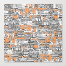 Paris toile cantaloupe Canvas Print