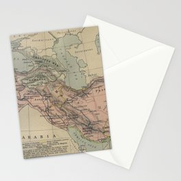 Map of Macedonion Empire Middle East Plan of Tyre from 332 BC Stationery Cards