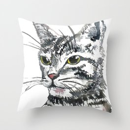 Stay Home Club Throw Pillow