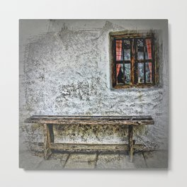 Bench & Window Metal Print