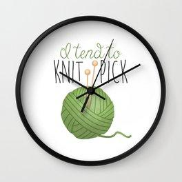 I Tend To Knit Pick Wall Clock