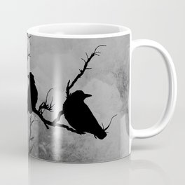 Dramatic Crow Birds Raven on Branch Stormy Sky Home Decor Wall Art A526 Coffee Mug