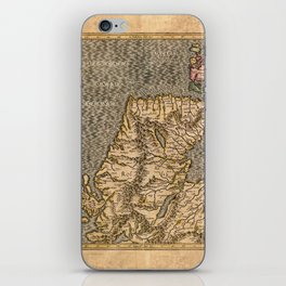 Vintage Map of Scotland iPhone Skin