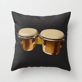 Bongos Drums Throw Pillow