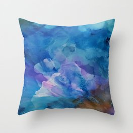Bloom Up Abstract Throw Pillow