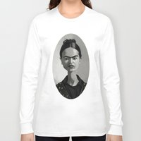 frida kahlo Long Sleeve T-shirts featuring Frida Kahlo by Kostas Roussos